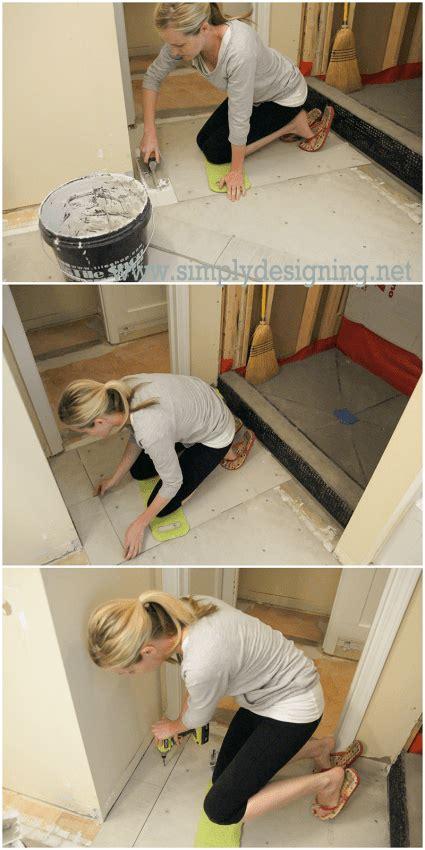 master bathroom remodel part    install radiant
