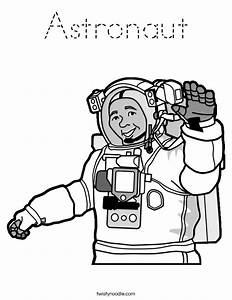 Astronaut Coloring Page - Tracing - Twisty Noodle