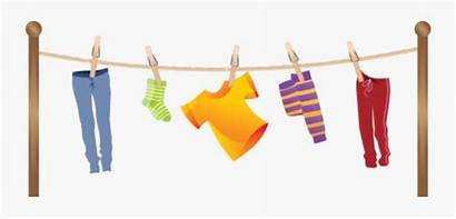 Clip Clothes Clipart Hanging Laundry Transparent Clipartkey
