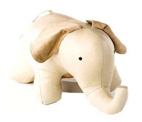 Elephant Ottoman - leather elephant ottoman handmade in canada 260 www