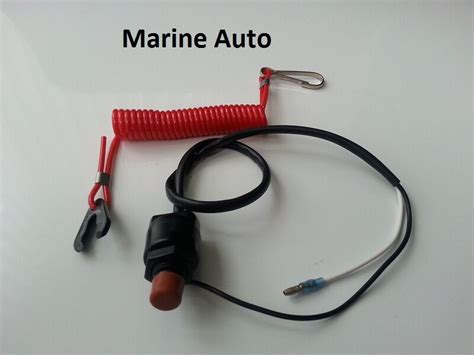 outboard stop kill switch cut switch with tether yamaha emergency stop ebay