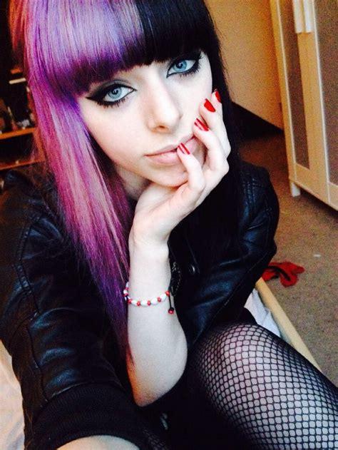 Beautiful Half Head Purple And Black Hair I Also Love Her