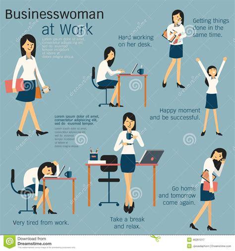 Woman at work stock vector. Image of cartoon, laptop   46261017