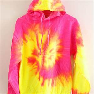 Tropical Neon Tie Dye Hoo from Era of Artists