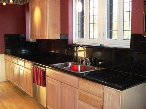 black kitchen tiles 10 glossy tiled kitchen countertops rilane 1700
