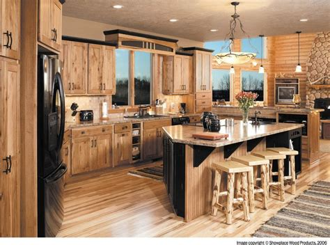 rustic hickory kitchen cabinets best 25 rustic hickory cabinets ideas on