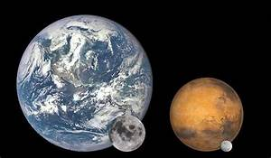 If Mars were our moon, how big would it look (assume it ...
