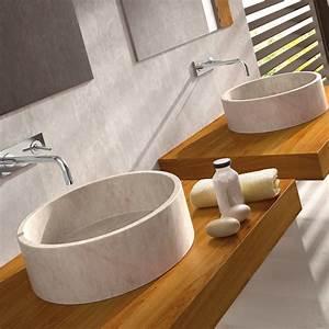 Circular, Stone, Sink