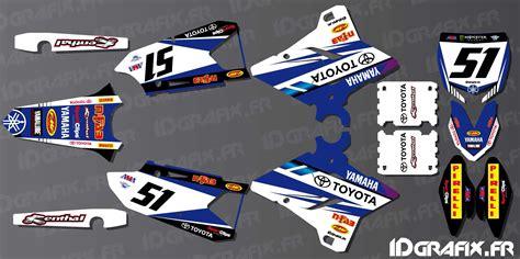 kit deco yzf 250 kit decoration sx usa edition yamaha yz yzf 125 250 450 idgrafix