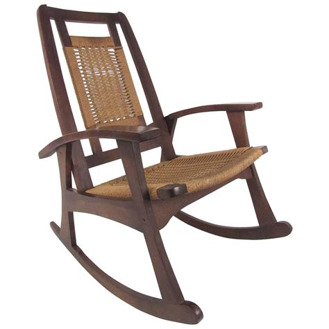 mid century seat rocking chair for sale at 1stdibs
