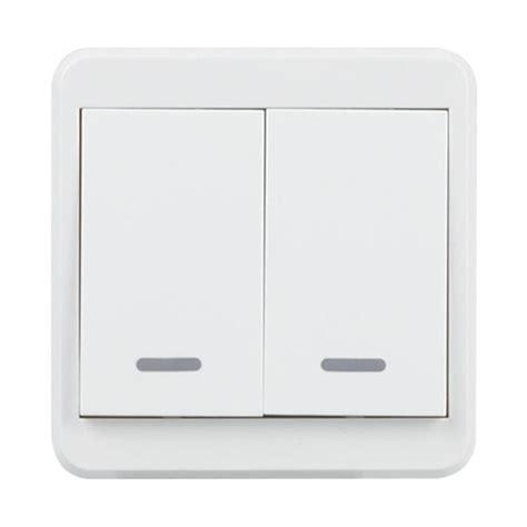 wifi wall light switch 2 push button remote