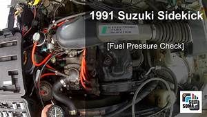 1991 Suzuki Sidekick - Fuel Pressure Test