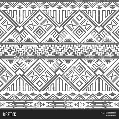 abstract geometric seamless aztec pattern ikat style pattern stock vector stock