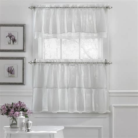 gypsy crushed voile ruffle kitchen window curtain tiers