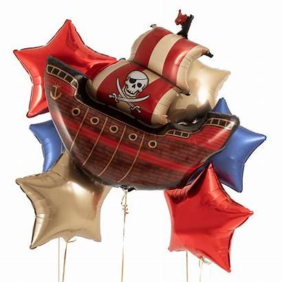 Pirate Balloon Helium Bouquet Filled Ship Foil