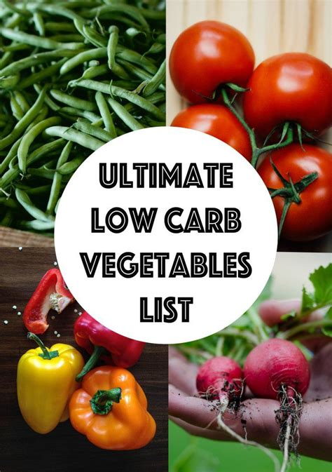 carb vegetables list searchable sortable guide
