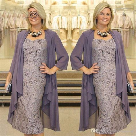 Woman Elegant Mother Of The Bride Dresses With Jacket Lace ...