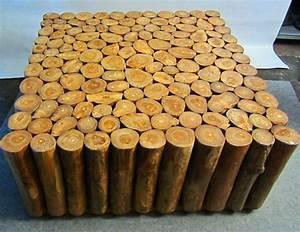 Tisch Aus Holzstamm : baumstamm tisch teakholz 100x100x45 cm yin yang ~ Lateststills.com Haus und Dekorationen