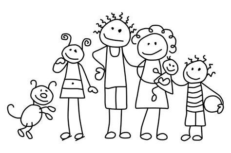 Ausmalbilder, Malvorlagen  Familie Kostenlos Zum