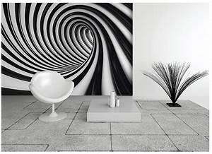 "Black and white home wallpaper ""Swirl"""