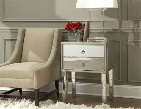 mirrored nightstand  special touch   master