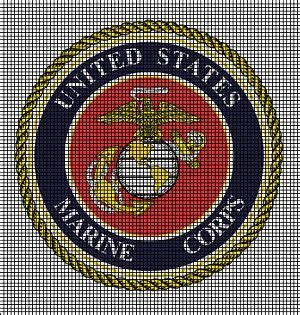 united states marine corps crochet pattern tapestry