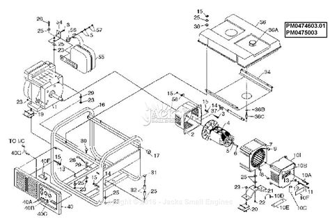 Coleman Powermate Generator Wiring Diagram by Powermate Formerly Coleman Pm0474603 01 Parts Diagram For