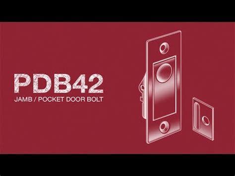 deltana pocket door bolt instructions pdb youtube