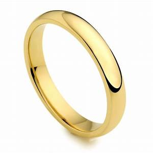 18ct yellow gold 3mm wedding band ring austen jewellers With wedding rings gold band