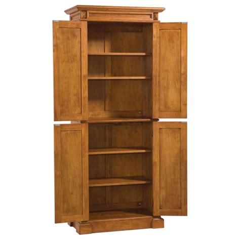 kitchen pantry storage cabinet home styles americana solid hardwood cottage oak finish