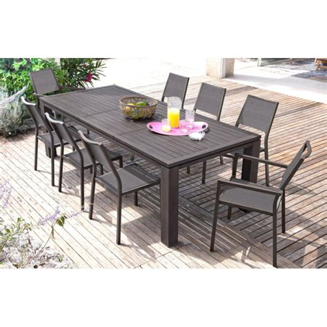Table De Jardin Aluminium Et Bois Composite by Beautiful Table De Jardin Extensible En Alu Contemporary