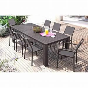 Table Aluminium Extensible : table de jardin extensible fiero en aluminium 200 300x103x73cm brun proloisirs ~ Teatrodelosmanantiales.com Idées de Décoration