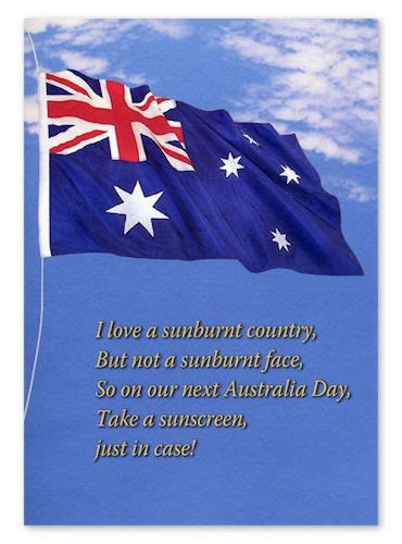 australia day greeting card   sachet  sunscreen