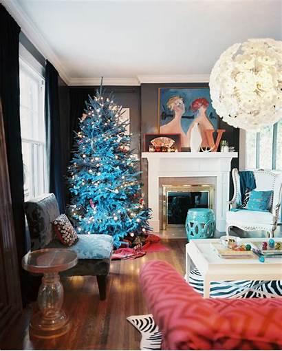 Dark Christmas Walls Tree Decor Eclectic Living
