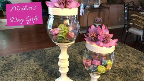 dollar tree mothers day candy jar diy youtube