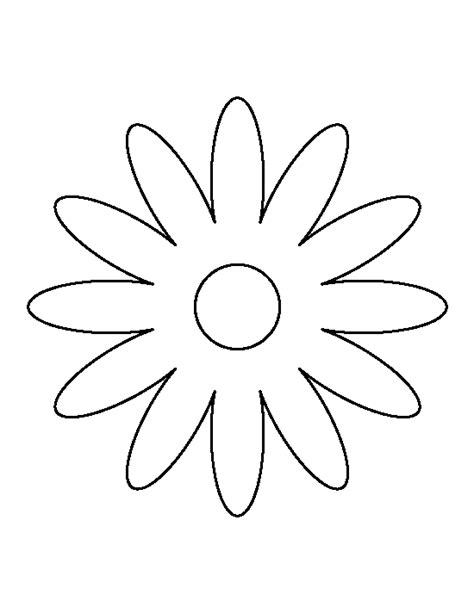 daisy pattern   printable outline  crafts
