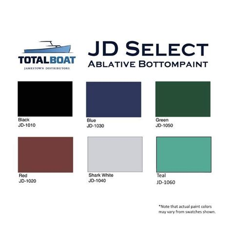boat paint colors totalboat jd select water based ablative bottom paint