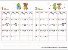 2018カレンダー 無料 1 2019 2018 Calendar Printable with