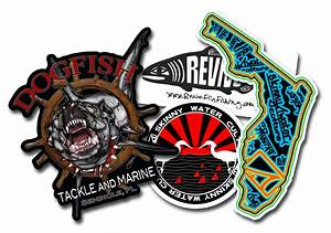 fish on custom stickers for anglers custom sticker makers With customise sticker