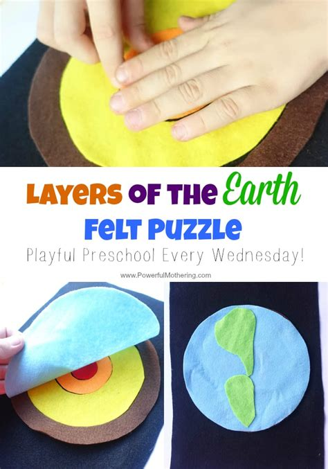 earth for preschoolers layers of the earth felt puzzle 222
