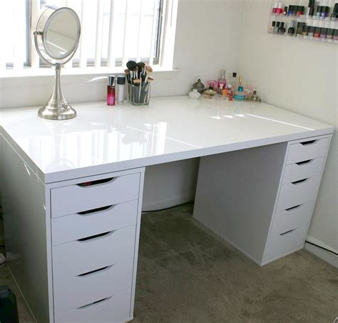 vanity desk with white makeup desk mugeek vidalondon