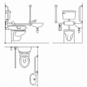 Complete disabled bathroom dwg block max cadcom for Autocad ada bathroom blocks