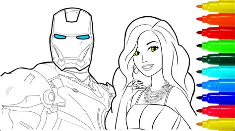 iron man barbie coloring pages colouring pages  kids