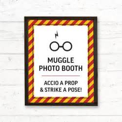 Harry Potter Gryffindor Photo Booth Printable Signs