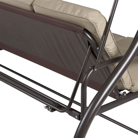 Loveseat Swing Outdoor by Outdoor 3 Person Patio Porch Swing Hammock Bench Canopy