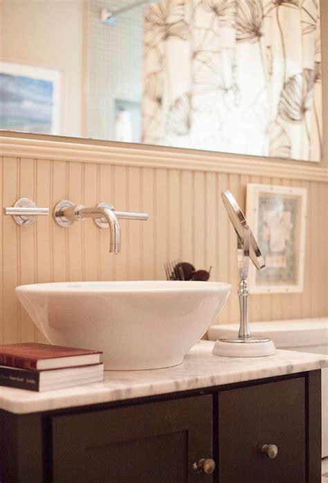 vanity  vessel sink cottage bathroom lucy