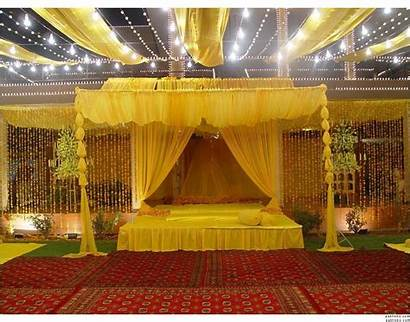 Stage Mehndi Decoration Decorations Pakistani Designs Backdrop
