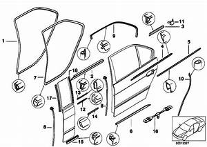 Original Parts For E38 740i M60 Sedan    Bodywork   Door Weatherstrip Rear