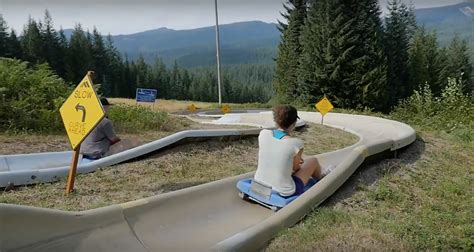The Mountain Slide In Oregon That Will Take You On A Ride