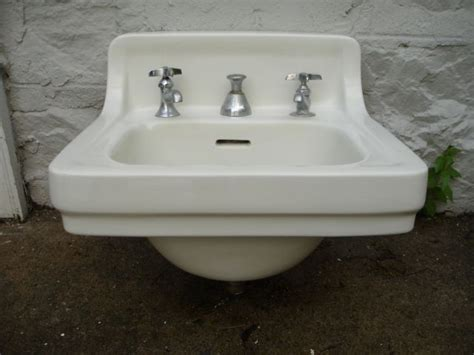 1940s Bathroom Sink by Wall Mounted Sink C1940s Vintage Bathrooms Wall